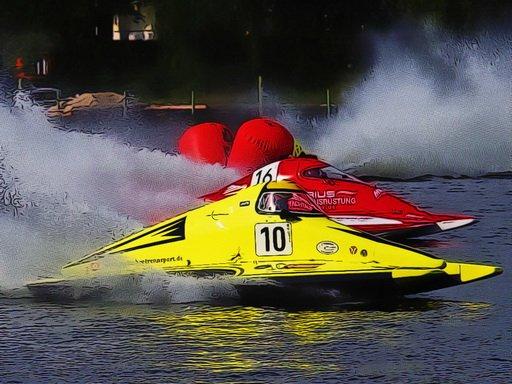 Motor Racing Boat